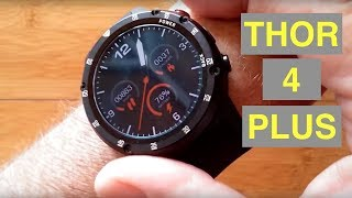 ZEBLAZE THOR 4 PLUS 4G Android 7.1.1 Always Time Display Smartwatch: Unboxing and 1st Look