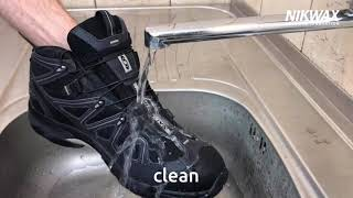 How to clean and waterproof boots with Nikwax Footwear Cleaning Gel and Fabric and Leather Proof