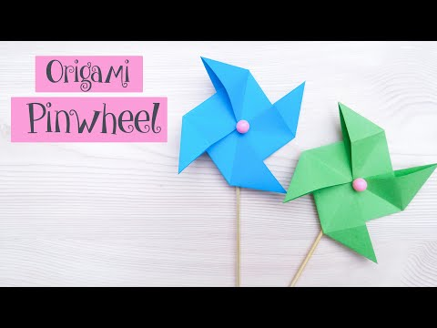 Paper Windmill That Spins - Origami Pinwheel - Tutorial