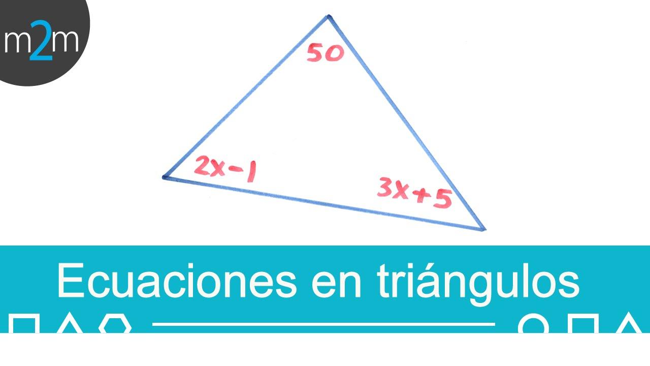 ángulos Interiores De Un Triángulo Ejercicio 1 Youtube
