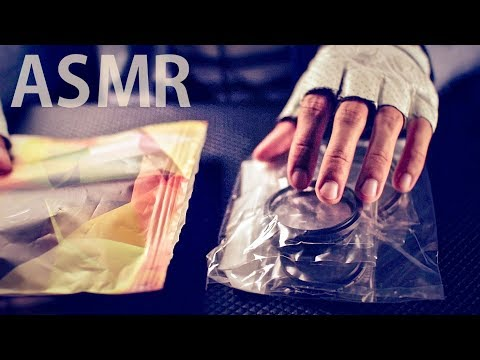[ASMR Binaural] Extremely Crinkly Plastic Unwrapping - No Talking