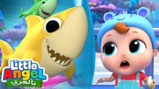 بيبي شارك | جاد الصغير يذهب إلى حوض الأسماك | Baby Shark | Little Angel Arabic