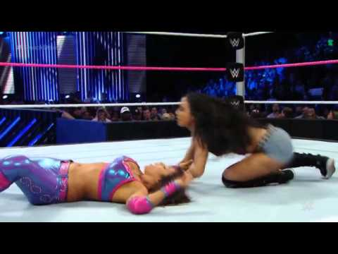 WWE SMACKDOWN AJ Brooks as AJ Lee vs Layla,love bites outfit