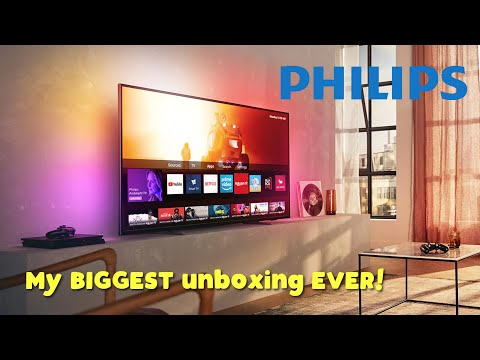 "Unboxing and Setting Up the 2020 Philips 7800er Series 50"" 4K Ultra HD HDR LED TV - 50PUS7855"