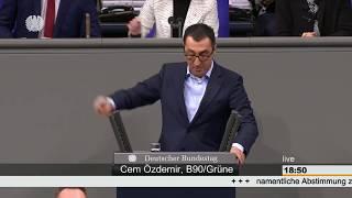 Cem Özdemir rechnet im Bundestag mit der AfD ab