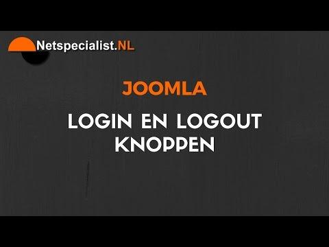 Joomla Login En Logout Menu Item Maken