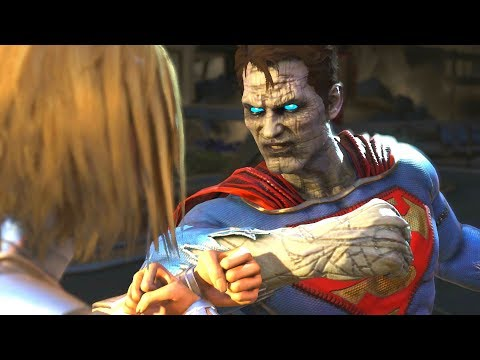 Injustice 2 - Bizarro Vs Supergirl All  Intro Dialogue/All Clash Quotes, Super Moves