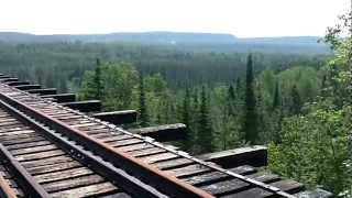 Pass Lake Train Trestle Abandoned Cn Railway Line