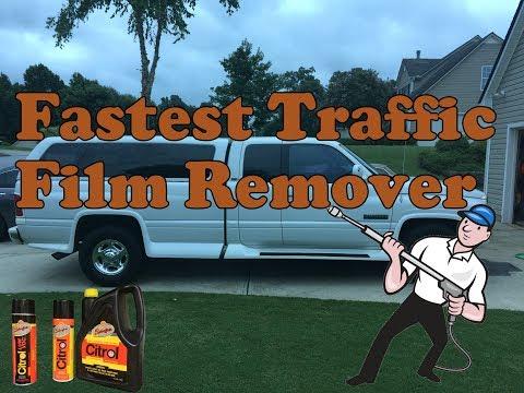 Fastest Traffic Film Remover to remove stubborn road film