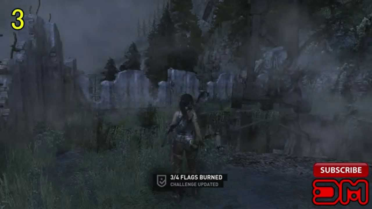 Tomb Raider - Previous Inhabitants Challenge Collectibles - All Flag  Locations