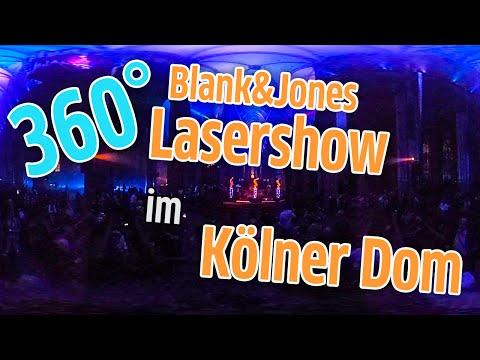 Blank & Jones Mit Lasershow Im Kölner Dom Zur Gamescom [360° Video]