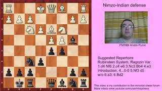 Chess - Nimzo-Indian Defense (for black) - 4.e3 0-0 5.Nf3 d5-Introduction