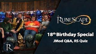 RuneScape 18th Birthday - JMod Q&A, RS Quiz