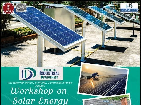 Applications of Solar Power Lecture by Vikas Gupta