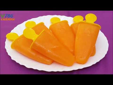 yummy orange popsicles recipe | homemade orange popsicles | kulfi