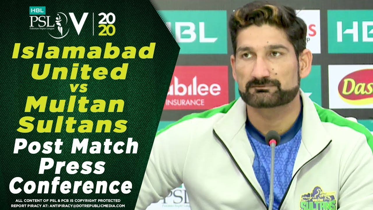 Sohail Tanvir Post Match Press Conference | Islamabad United vs Multan Sultans | HBL PSL 2020