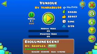 Geometry Dash World, I'm in the #1 in the top of yunique!😉