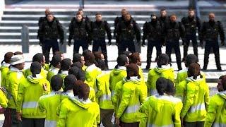 GTA 5 FRANCE - LES GILETS JAUNES ENTRENT DANS LE COMMISARIAT DE POLICE - MANIFESTATION #3