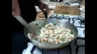 Susen's Kitchen Corner:(2) Garlic, Cilantro Shrimp With Mandarin Pancakes.