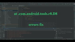 flutter errors fix ( D8  Cannot fit requested classes in a single dex file and so on)