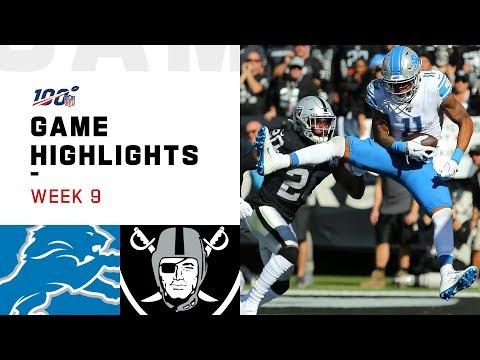 Lions Vs. Raiders Week 9 Highlights   NFL 2019