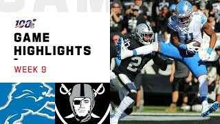 Lions vs. Raiders Week 9 Highlights | NFL 2019