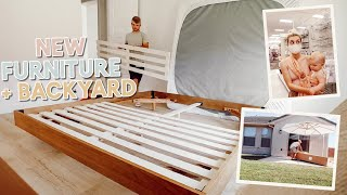 putting together furniture + new backyard tour + target haul!