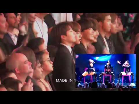 BTS REACTION TO NICKI MINAJ SWALLA AT THE BBMAS 2017!!!