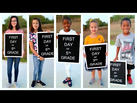First Day of School! Back to School 2018