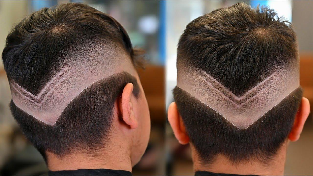 تعلم الطريقة الصحيحة لتدريج الشعر على شكل ٧ / شرح بالصوت والصورة وبدقة HD
