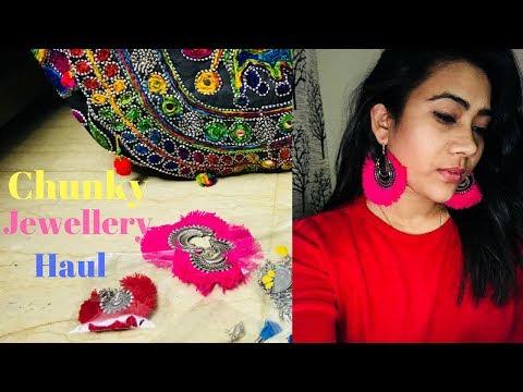 Chunky/ Oxidized Silver Jewellery Haul || Janpath - best place to buy🤩