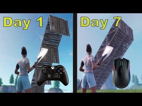 XBOX to PC- 7 Day Progression- Fortnite Battle Royale