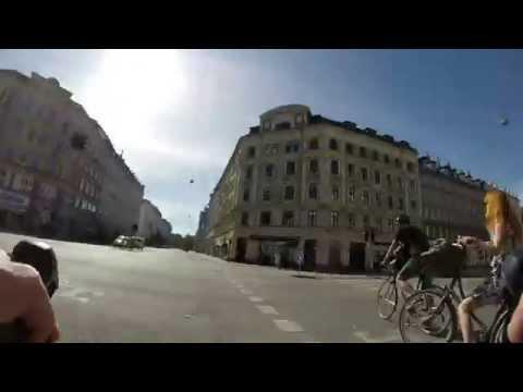 Bike commuting to work - Denmark, Copenhagen Area, GoPro