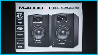 M-Audio BX4 Multimedia Monitors - Unboxing & First Impressions