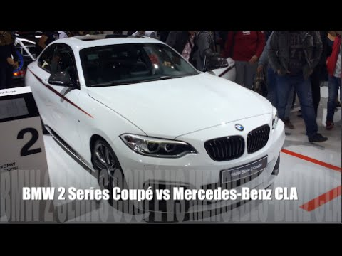 bmw 2 series coup 2015 vs mercedes benz cla 2015 youtube. Black Bedroom Furniture Sets. Home Design Ideas