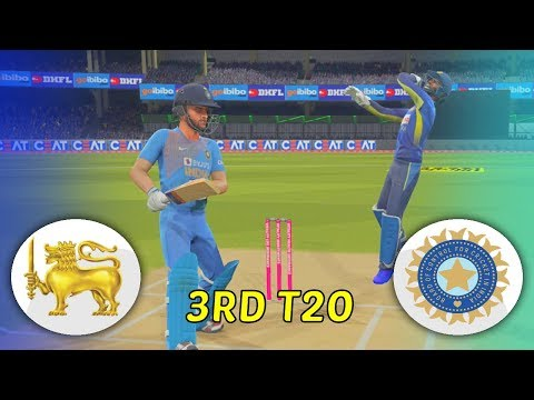 INDIA V SRI LANKA 2020 GAMING SERIES - 3RD T20 - ASHES CRICKET 19