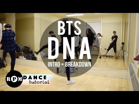 "BTS ""DNA"" Dance Tutorial (Intro, Breakdown)"