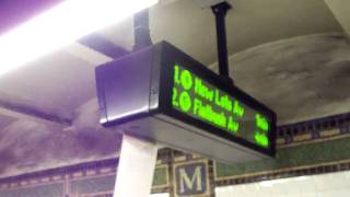 IRT R142 (4) (5) Local trains w/ Time Arrival SIgn on a Saturday at Eastern Parkway [HD]