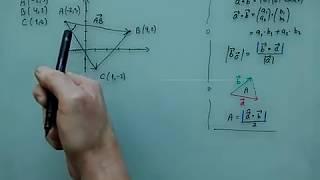 Trekantsberegninger vha vektorer