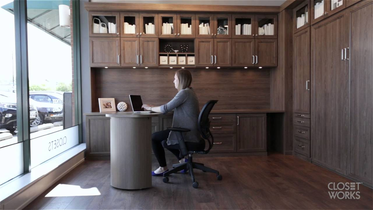 Office Murphy Bed - YouTube
