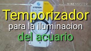Como usar un Temporizador analogico para la luz del acuario
