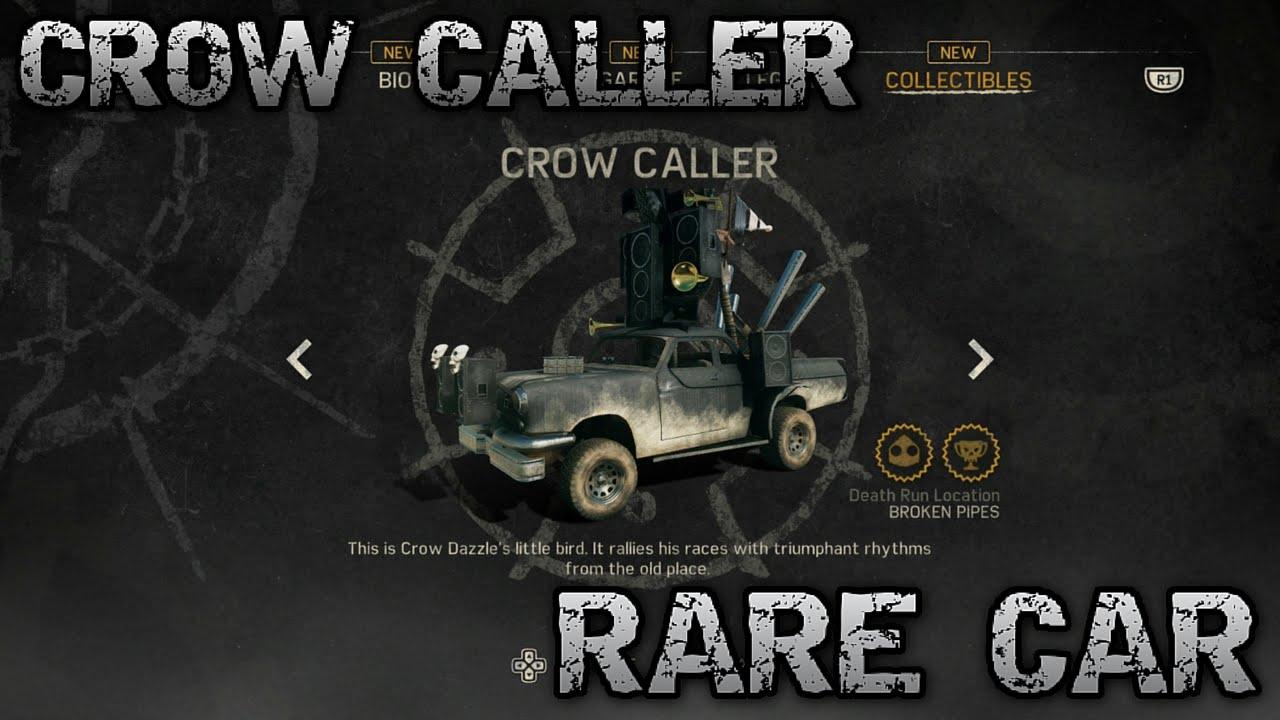 Mad Max Rare Car Crow Caller Location Youtube