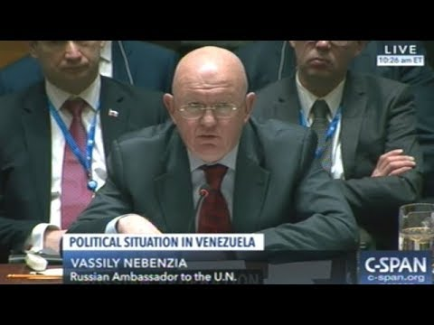 Russian Ambassador Lays Into United States At Emergency U.N. Security Council Meeting On Venezuela