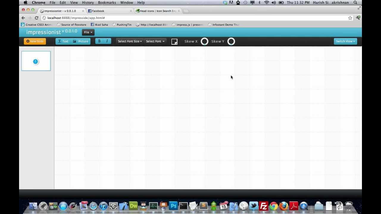 New Visual Editor for Creating Slick CSS3+JavaScript Presentations