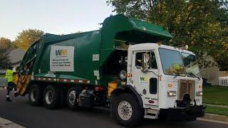 Waste Management's oldest CNG rear loader on trash!