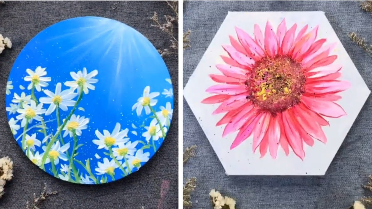 Simple Painting Ideas For Beginners Flowers If You Have A Little One Who Is A Blooming Artist This Article Carries Kids Friendly Canvas Painting Ideas As Well