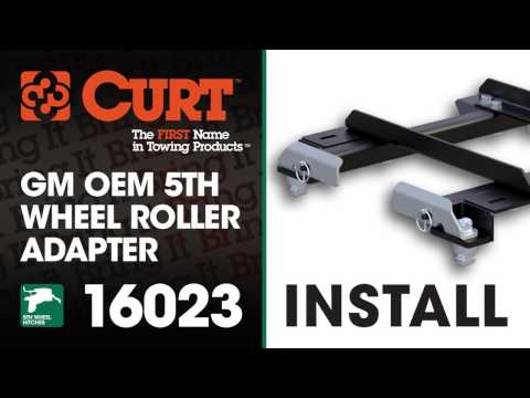 5th Wheel Hitch Install: CURT 16023 GM Puck System 5th Wheel Roller Adapter