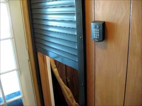 Security Shutter San Antonio for Gun Room or Safe Room keypad entry