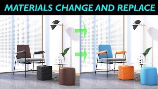 3DSMAX Material Change And Replace Tutorial By KaboomTechx