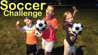 Family soccer challenge!⚽️